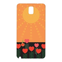 Love Heart Valentine Sun Flowers Samsung Galaxy Note 3 N9005 Hardshell Back Case