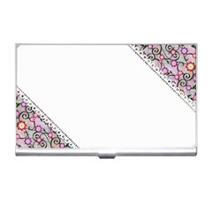 Floral Ornament Baby Girl Design Business Card Holders