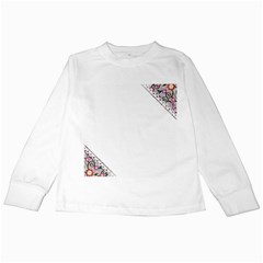 Floral Ornament Baby Girl Design Kids Long Sleeve T Shirts