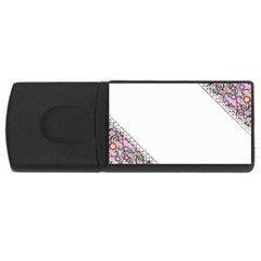 Floral Ornament Baby Girl Design Usb Flash Drive Rectangular (4 Gb)