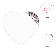 Floral Ornament Baby Girl Design Playing Cards (Heart)