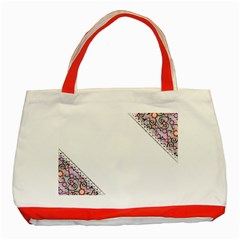 Floral Ornament Baby Girl Design Classic Tote Bag (red)