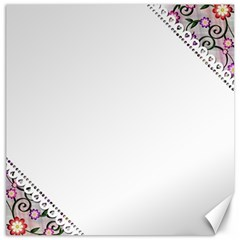 Floral Ornament Baby Girl Design Canvas 12  X 12
