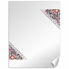 Floral Ornament Baby Girl Design Canvas 12  X 16