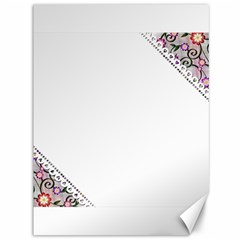 Floral Ornament Baby Girl Design Canvas 36  X 48