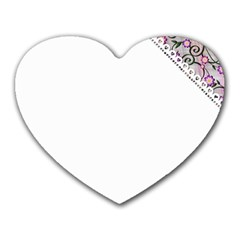 Floral Ornament Baby Girl Design Heart Mousepads