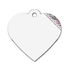 Floral Ornament Baby Girl Design Dog Tag Heart (one Side)