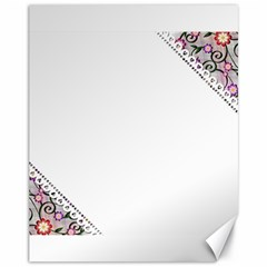 Floral Ornament Baby Girl Design Canvas 11  x 14
