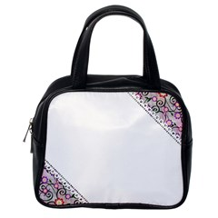 Floral Ornament Baby Girl Design Classic Handbags (One Side)