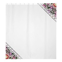 Floral Ornament Baby Girl Design Shower Curtain 66  x 72  (Large)