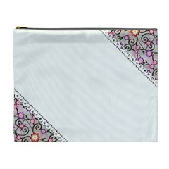 Floral Ornament Baby Girl Design Cosmetic Bag (XL)