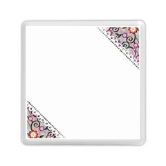 Floral Ornament Baby Girl Design Memory Card Reader (square)