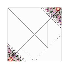 Floral Ornament Baby Girl Design Acrylic Tangram Puzzle (6  x 6 )