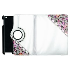 Floral Ornament Baby Girl Design Apple iPad 3/4 Flip 360 Case