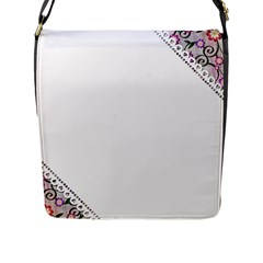 Floral Ornament Baby Girl Design Flap Messenger Bag (L)