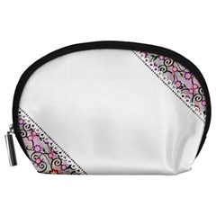 Floral Ornament Baby Girl Design Accessory Pouches (Large)