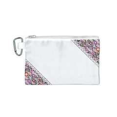Floral Ornament Baby Girl Design Canvas Cosmetic Bag (S)
