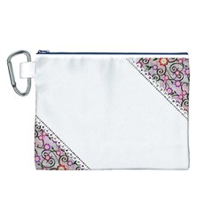 Floral Ornament Baby Girl Design Canvas Cosmetic Bag (L)