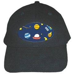Space Background Design Black Cap