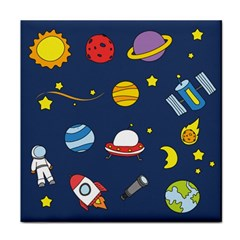 Space Background Design Tile Coasters