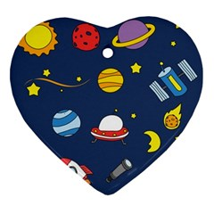 Space Background Design Ornament (heart)