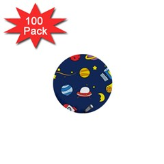 Space Background Design 1  Mini Buttons (100 Pack)