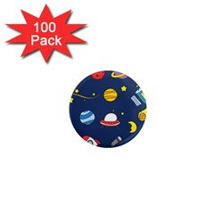Space Background Design 1  Mini Magnets (100 pack)