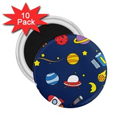 Space Background Design 2 25  Magnets (10 Pack)