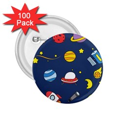 Space Background Design 2.25  Buttons (100 pack)