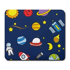 Space Background Design Large Mousepads
