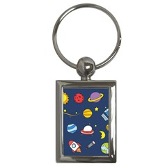 Space Background Design Key Chains (Rectangle)