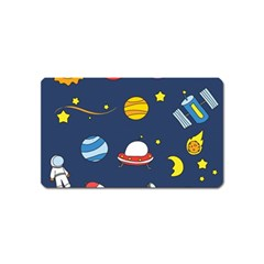 Space Background Design Magnet (name Card)