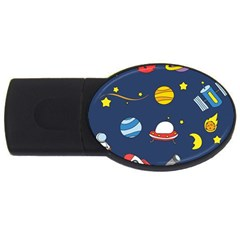 Space Background Design USB Flash Drive Oval (1 GB)