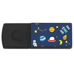 Space Background Design USB Flash Drive Rectangular (1 GB)