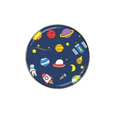 Space Background Design Hat Clip Ball Marker (10 Pack)