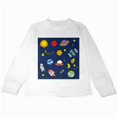 Space Background Design Kids Long Sleeve T-Shirts
