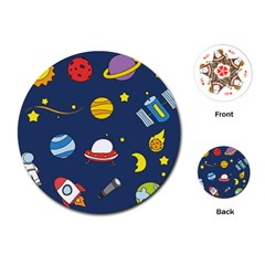 Space Background Design Playing Cards (round)
