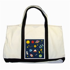 Space Background Design Two Tone Tote Bag