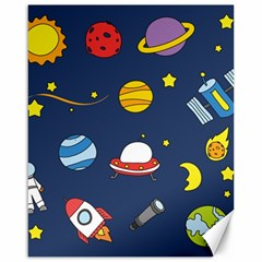 Space Background Design Canvas 16  x 20