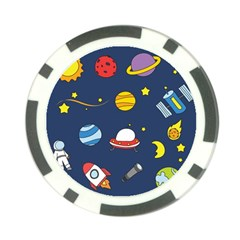 Space Background Design Poker Chip Card Guard