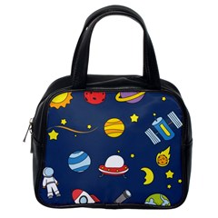 Space Background Design Classic Handbags (One Side)