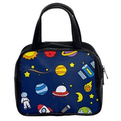 Space Background Design Classic Handbags (2 Sides)