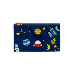 Space Background Design Cosmetic Bag (small)