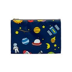 Space Background Design Cosmetic Bag (medium)
