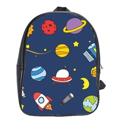 Space Background Design School Bags(large)