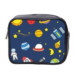 Space Background Design Mini Toiletries Bag 2-Side