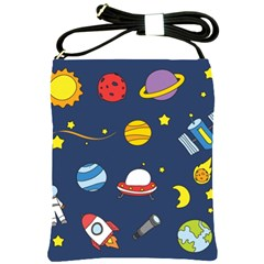 Space Background Design Shoulder Sling Bags