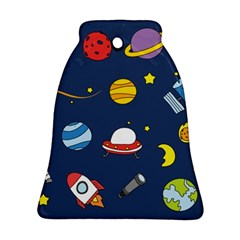 Space Background Design Bell Ornament (Two Sides)