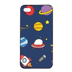Space Background Design Apple iPhone 4/4s Seamless Case (Black)