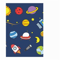 Space Background Design Small Garden Flag (Two Sides)
